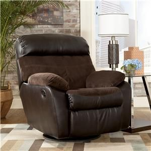 berneen coffee swivel rocker recliner by signature design by ashley furniture at samu0027s furniture