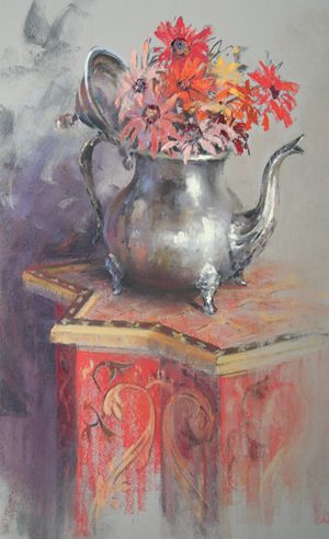 Enjoy a special gallery of Claude Texier's subtle and moody pastel paintings.