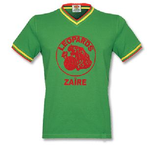 Show details for Zaire V-neck 1974 World Cup Retro Football Shirt