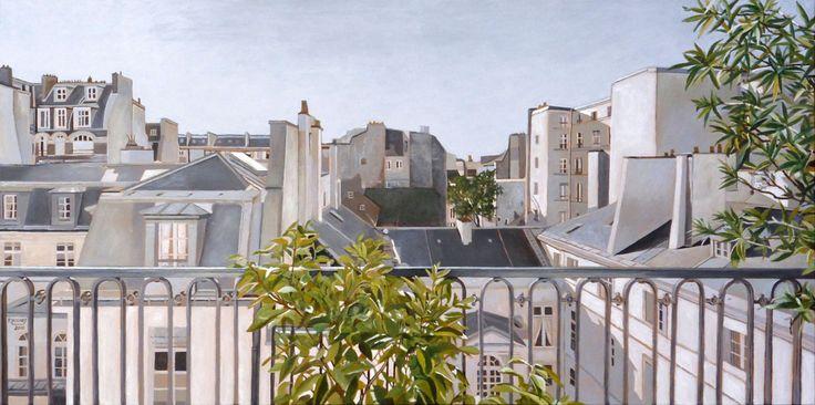 """Extérieur N°5 - Acrylic on canvas - 50 x 100 cm 19""""11/16 x 39""""3/8"""