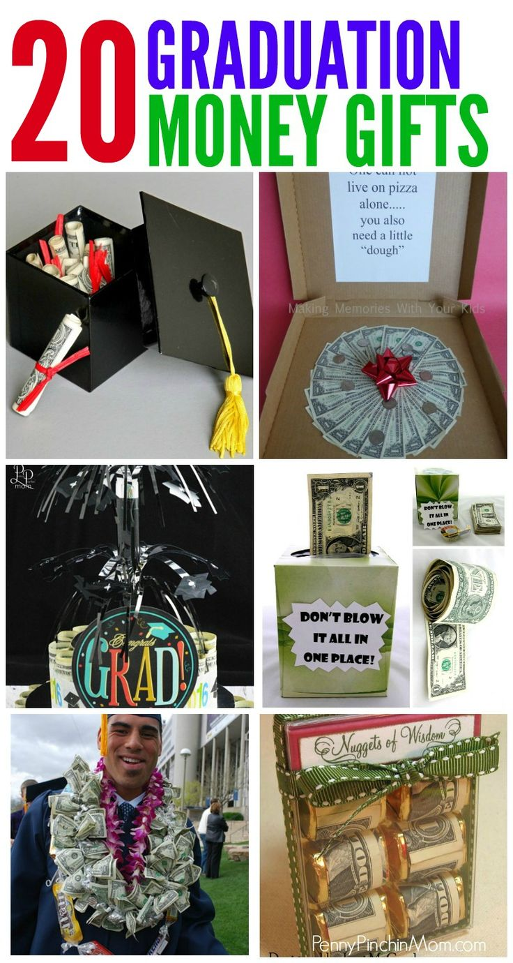 Graduation Gift Ideas Made From Money.  Money Gifts for anyone -  no matter your budget  Simple Graduation DIY Gift Ideas that anyone can make.  Graduation | Gift Ideas | Money Gifts | DIY |   #moneygifts #graduationgifts #giftideas #teengifts