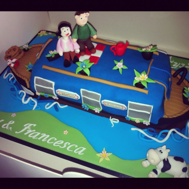 Best Barge Cake Images On Pinterest Canal Boat Boat Cake And - Boat birthday cake ideas
