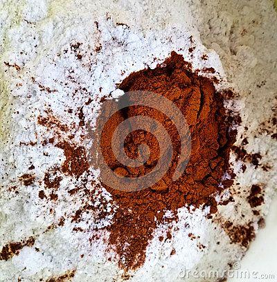 Flour and cinnamon