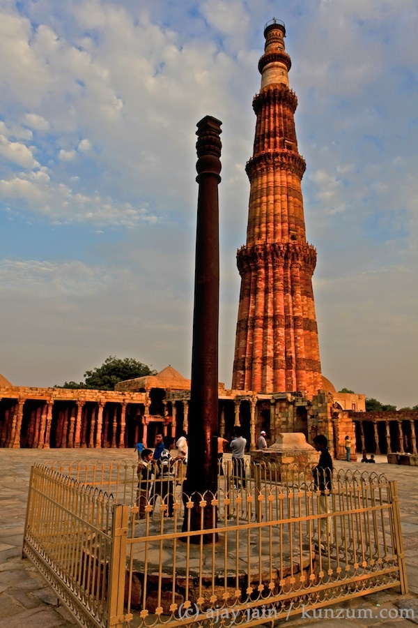 The pillar at the Qutab Minar complex in New Delhi in India may have been brought from Bihar by the city's founding king Anang Pal. According to legend, a Hindu priest advised the king to plant it in the ground so that it could rest on the head of the snake king; and as long as that holds steady, the king's rule will do so likewise. Read the rest of the anecdote in Ajay Jain's book, 'Delhi 101' at http://kunzum.com/delhi101.