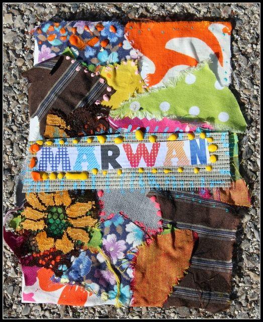 Etiquettes porte-manteaux en patchwork