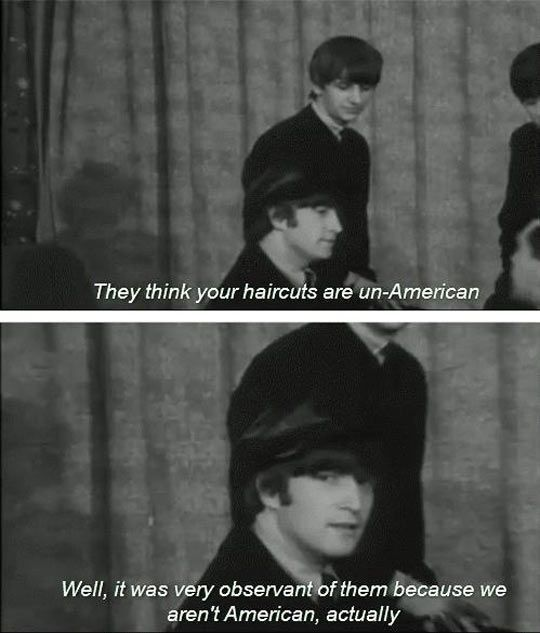 They gave credit where credit was due: | Definitive Proof The Beatles Were The Original Trolls