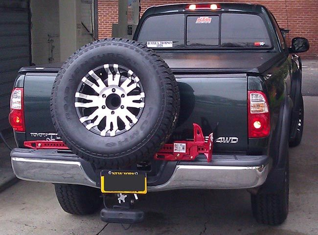 Homemade Truck Bed Spare Tire Mount