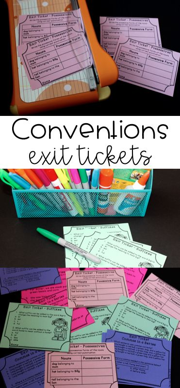 Quickly asses writing conventions with exit tickets! This is much quicker than looking through their writing notebooks! Helps teachers know what editing skills need to be taught.