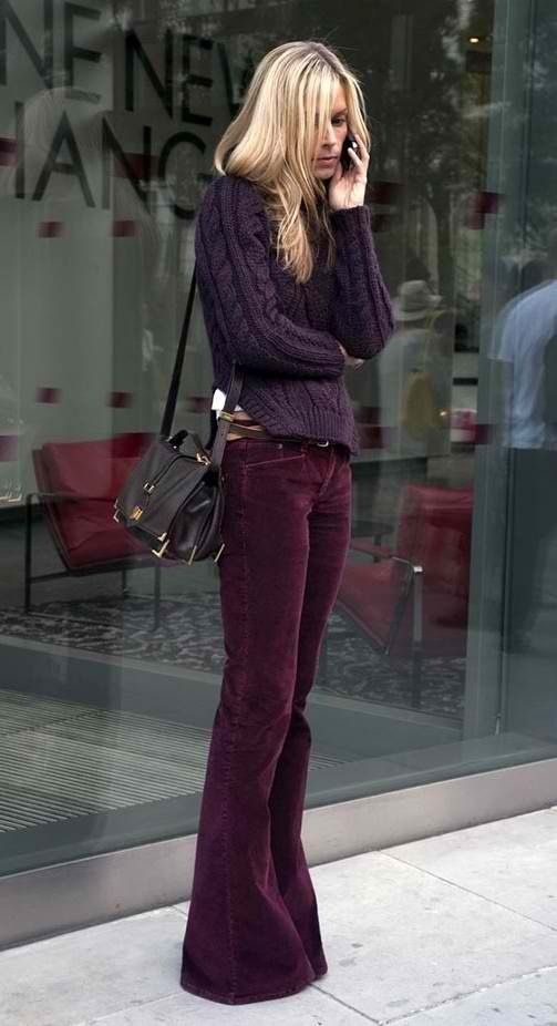 Fall Style: Fashion, Bell Bottoms, Color, Pants, Street Style, Outfit, Bellbottom, Fall Winter