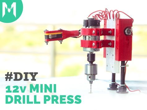 Small Drill Press with switch by mediamilan - Thingiverse