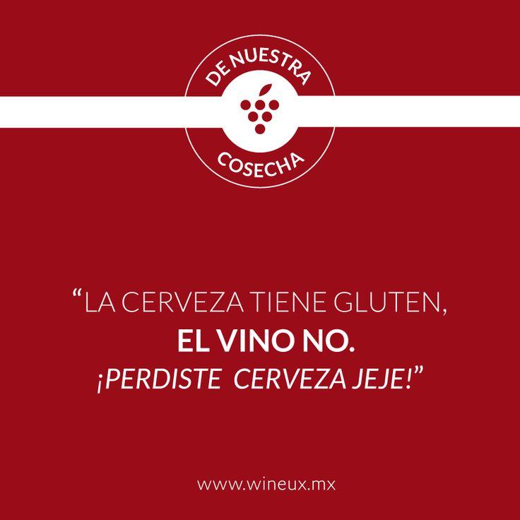 Disculpa cerveza, pero no estás a nuestro nivel, Atte. El Vino.  www.wineux.mx #FrasesDeVino #Vino #VinoMexicano #Wine