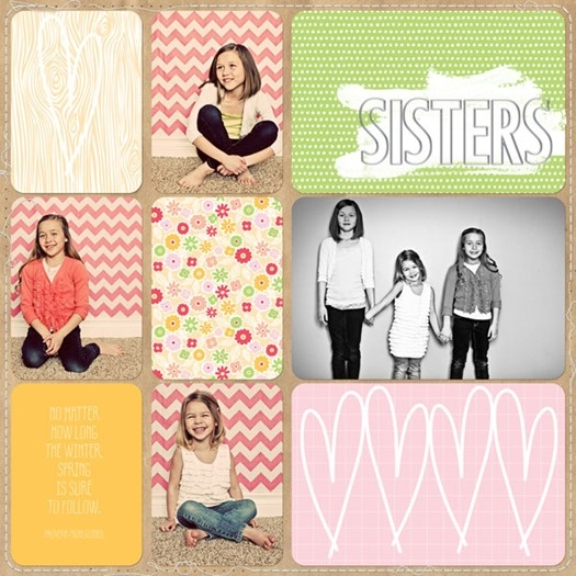 """""""sisters- a spring update"""" becky higgins project life """"seasons"""" mini kit. also used: karla dudley, liv.edesigns, anna aspnes"""