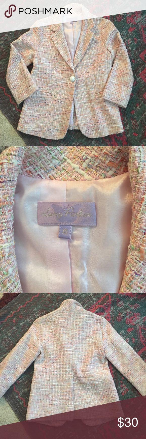 INTERMIX Lacey Parker tweed jacket Pink tweed blazer XS perfect condition intermix lacey Parker Jackets & Coats Blazers