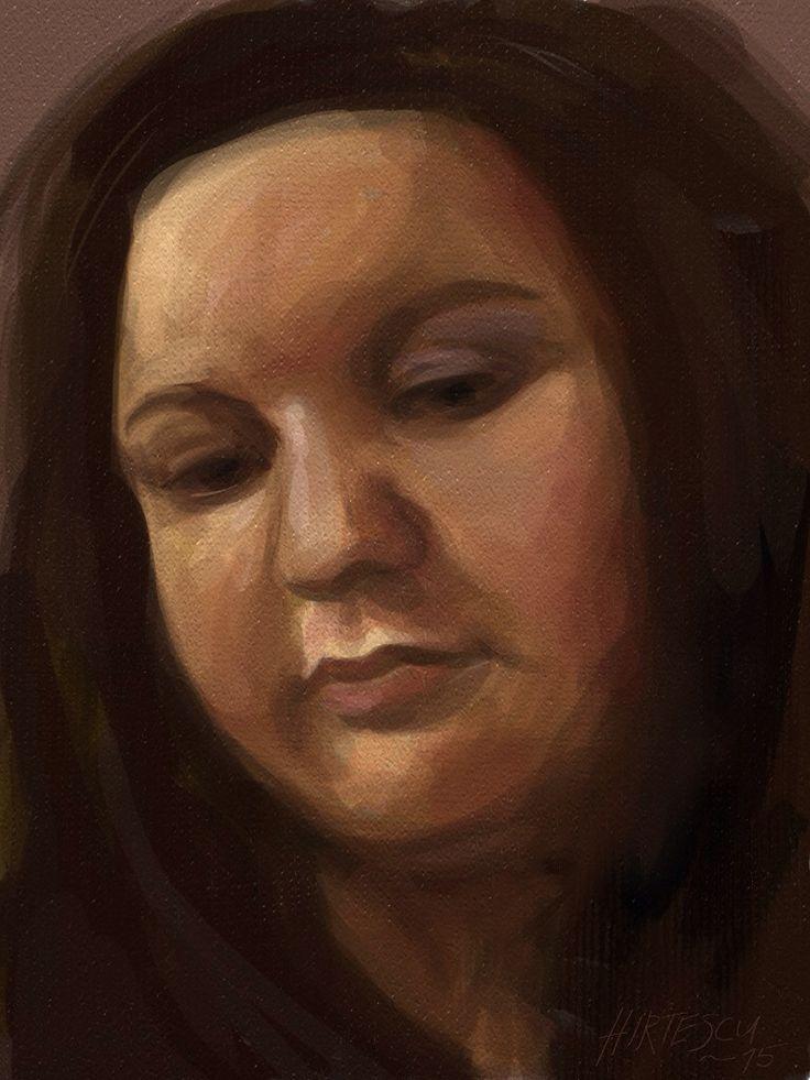 Self Portrait on digital iPad using ArtRage app. 2015 #portrait