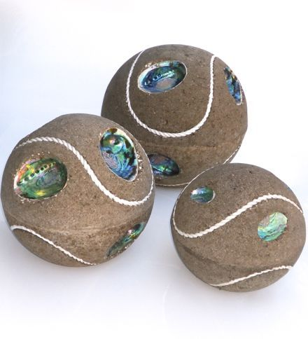 Paua Balls! for the New Zealand Tennis enthusiast. Bring a little New Zealand to the garden.