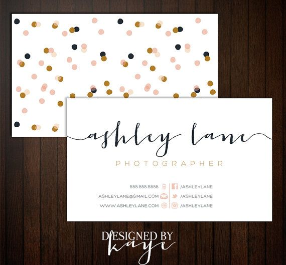 Premade Business Card Set for Photographers and by DesignedByKaye, $15.00