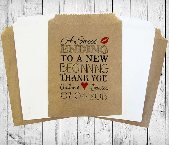 Personalised Sweet Bags A SWEET ENDING wedding by MadeByMikaLtd