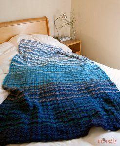 Grandma's Favorite Wobble Afghan | AllFreeCrochet.com
