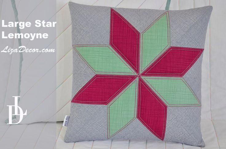 Patchwork Large star - Hvězda Lemoyne