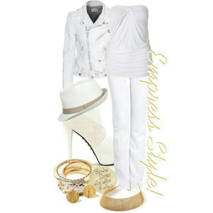 All white party attire