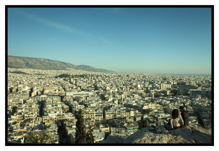 A sea of cement.  Looking out towards our house and the sea from Filopapou hill, next to the Acropolis. http://julianventer.com/video.html #JulianVenter #Greece #Athens #Alimos