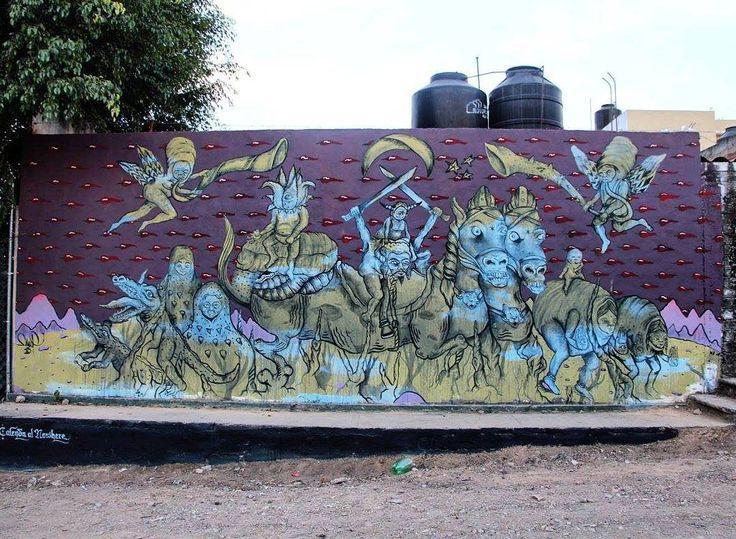 "tschelovek_graffiti: ""@malofarfan нарисовал в Оахака-де-Хуарес (Мексика). Photo by  Derrumbe Colectivo. #malofarfan #streetartmexico #streetmuralmx #artecallejero #streetartmx #graffitimexico #граффити_tschelovek #streetart #urbanart #graffiti #mural #стритарт #граффити #wallart #graffitiart #artederua #arteurbana #graffiticulture #graffitiwall #streetart_daily #streetarteverywhere"""