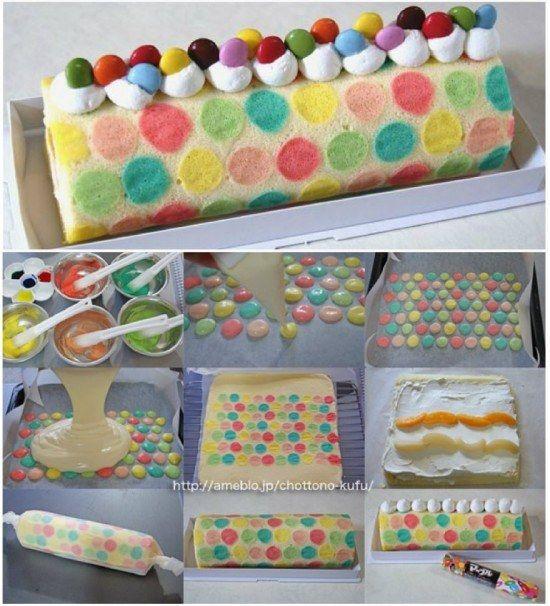 Polka Dot Swiss Roll Cake