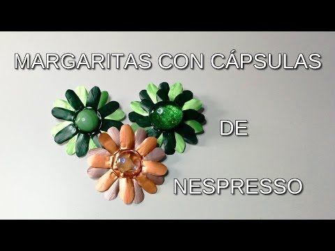 Broches de margarita con cápsulas de Nespresso - YouTube