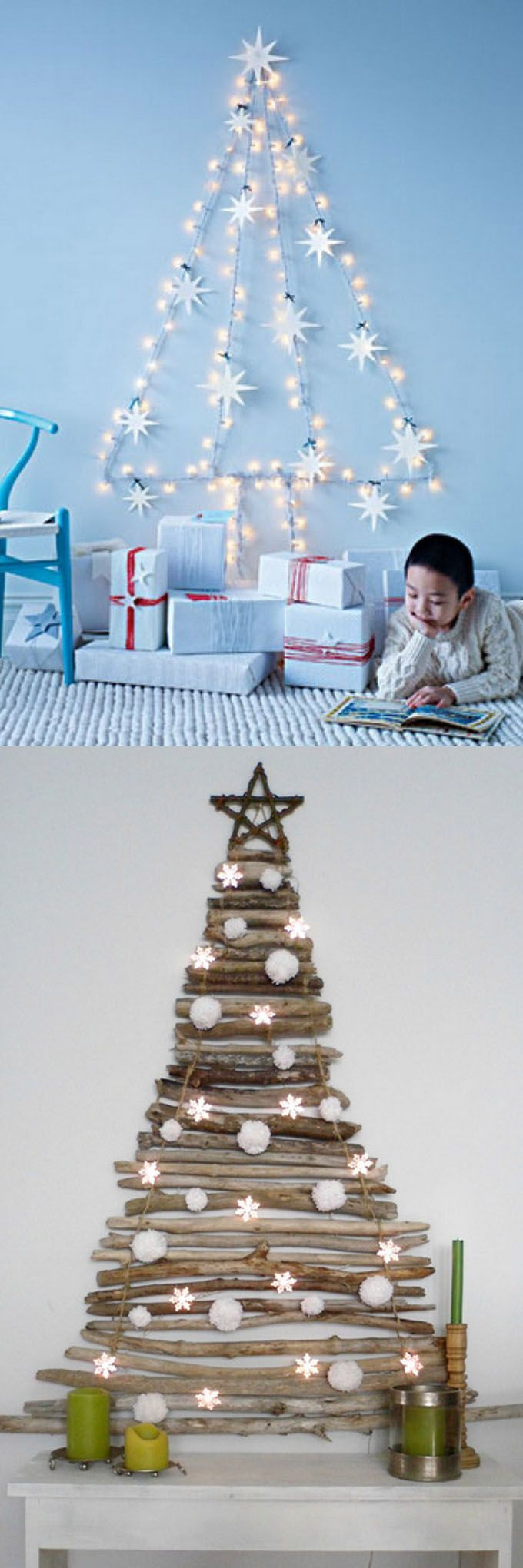 Unique christmas tree decorations - 18 Unconventional And Beautiful Diy Christmas Trees Ideas To Create Unique Christmas Decorations For Your