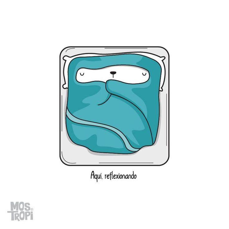 #Mostropi #Frío #Ilustracion #Reflexionando