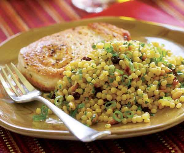 Israeli Couscous with Saffron, Toasted Pine Nuts & Currants | Recipe