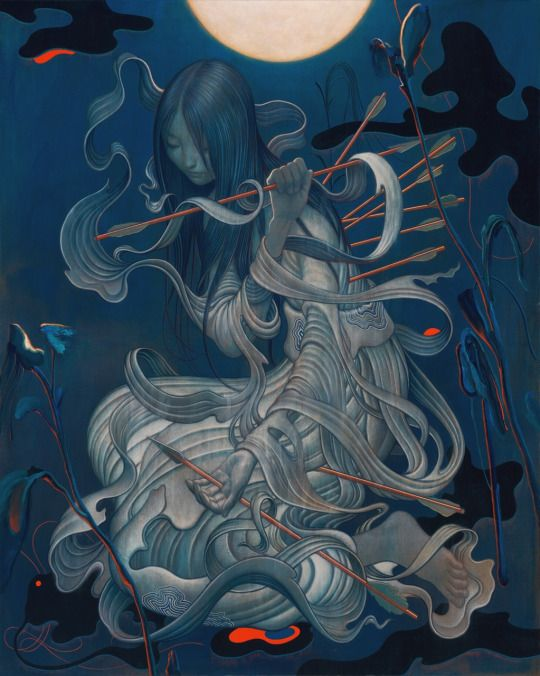 """JAMES JEAN Chang'e. Acrylic on Canvas, 48 x 60"""", 2015."""