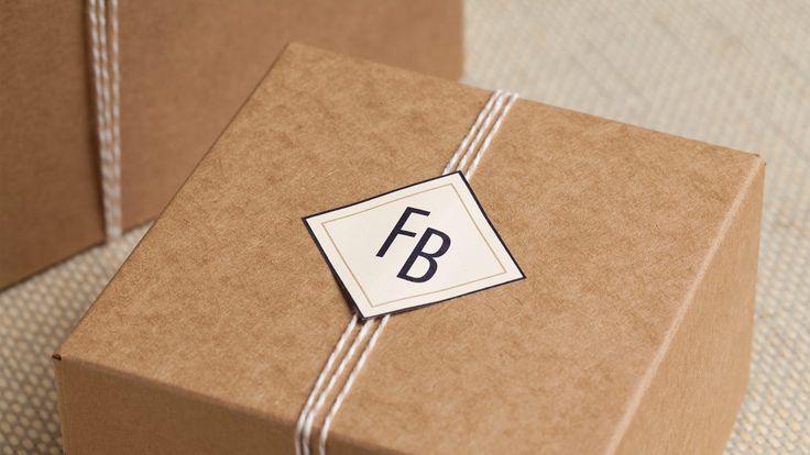 Aerogram Studio — Café Ferdinand pastry boxes.