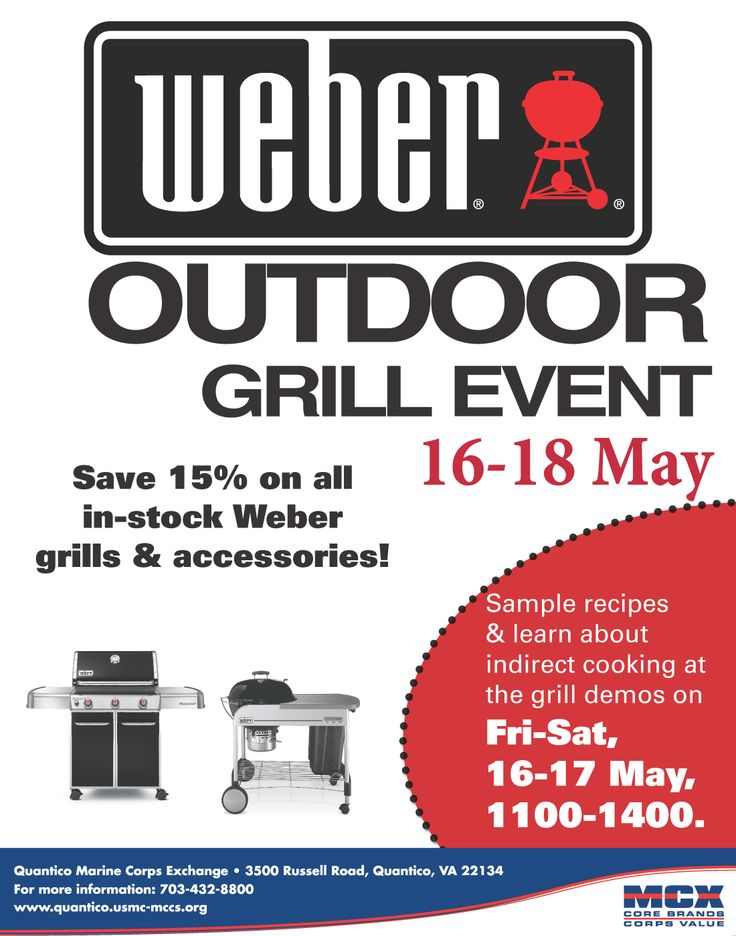 Weber Outdoor Grill Event 16-18 May, Quantico MCX