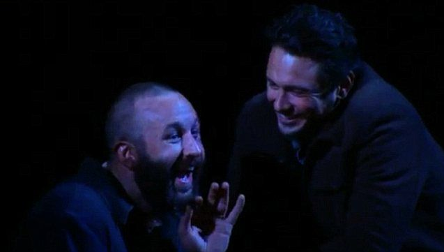 Franco pictured with co-star Chris O'Dowd