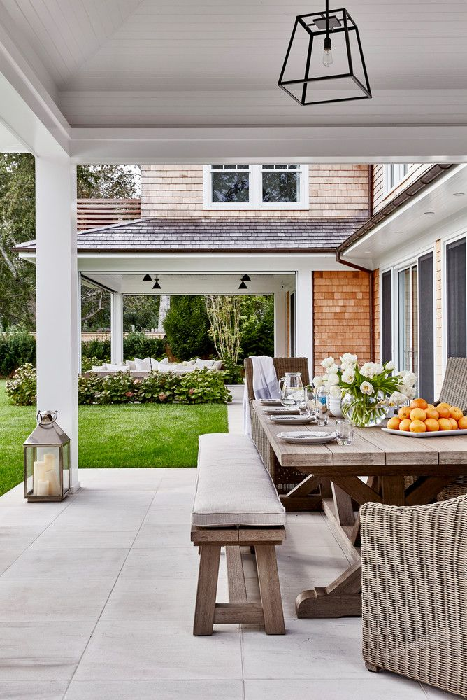 picturesque outdoor dining space