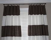 Custom Horizontal Striped Curtain Panels (fabric paint my sheers!)