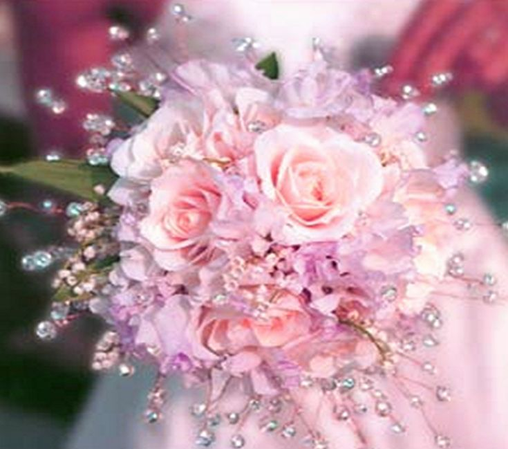Love the crystal imagine matching your wedding bouquet for Bridal flower bouquets ideas
