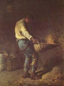 Storia della pittura attraverso i francobolli-J.Francois Millet