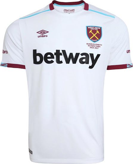 WEST HAM UNITED 2016/17 away