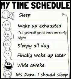 my time schedule of living with chronic pain or chronic illness