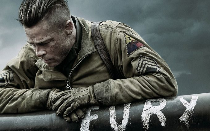 Brad Pitt In Fury http://beyondhdwallpapers.com/brad-pitt-in-fury/ #Movies #BradPitt #Fury #Wallpapers #HD #2014