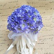 Wedding+Flowers+Round+Roses+Bouquets+Wedding+/+Party/+Evening+Satin+/+Silk+/+Bead+/+Rhinestone+–+USD+$+33.98