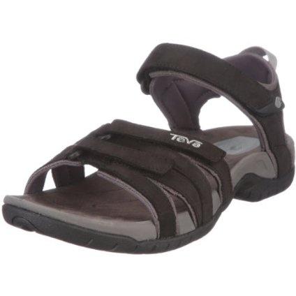 Teva Women`s Tirra Leather Sandal,Black,9 M US $84.95
