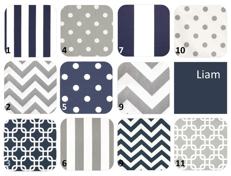 Design Your Own  4pc Crib Bedding Set  Navy Blue by leahashleyokc, $205.00