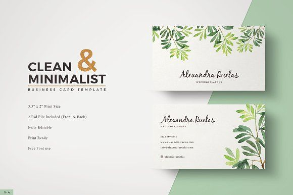 Botanical Business Card With Images Business Card Template