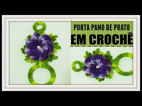 Porta Pano de Prato - Cesta de Flores por Carine Maria Strieder - YouTube