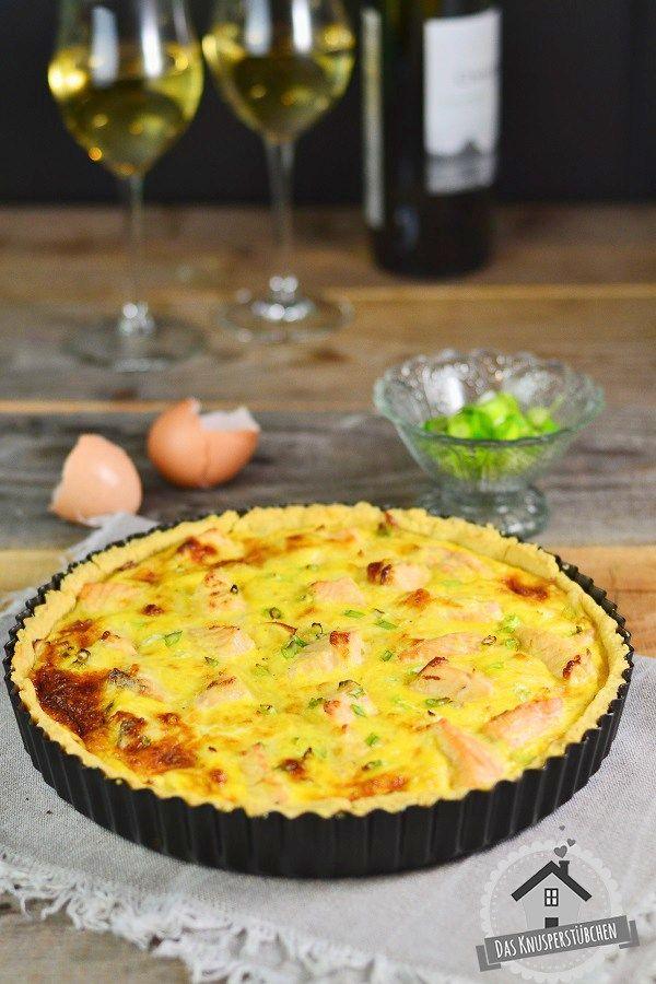 Quiche with leeks and salmon - Lauch Quiche mit Lachs | Das Knusperstübchen