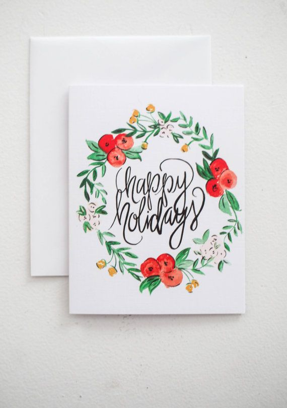 Holiday Greeting Cards Happy Holidays by ShannonKirsten on Etsy