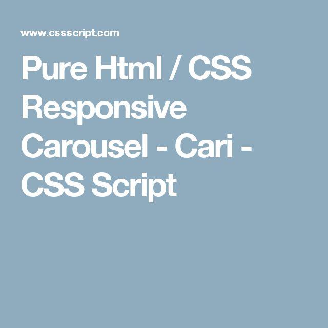 Pure Html / CSS Responsive Carousel - Cari - CSS Script
